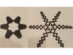 Hobermann snowflake (from 15 cm to 25 cm)