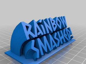 Rainbow Smashed! sign goes with rainbow smash pickaxe