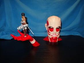 Mikasa Ackermann vs Titan - L'attaque des titans - attack on titan - Shingeki no Kyojin