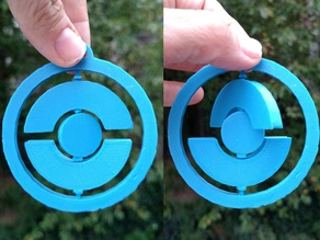 Spinning PokeStop Ornament