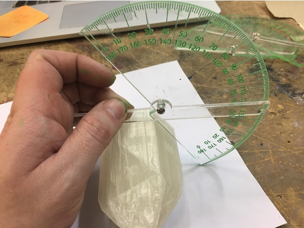 Lasercut contact goniometer for crystallography by Gav