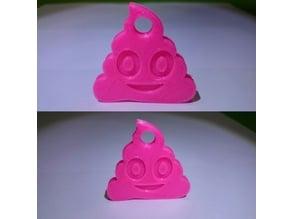 smile poo key chain