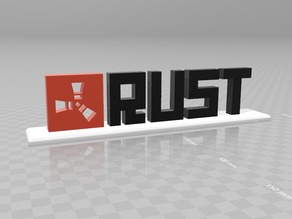 Rust Logo with Text and Stand V2