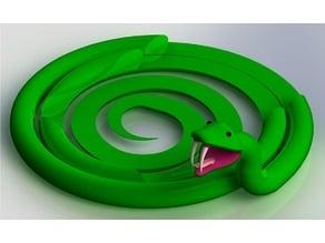 Snake Headphone Holder and Phone Dock