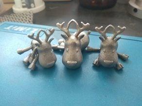 Steel hoolow reindeer