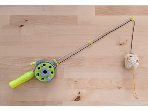 Cat Fishing Rod Toy