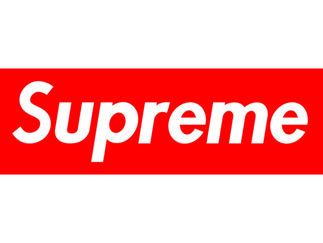 Favorite Supreme Box Logo by CHApplicableDesigns - Thingiverse ER97