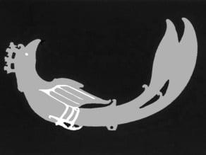 Shang Chinese Jade Bird Pendant