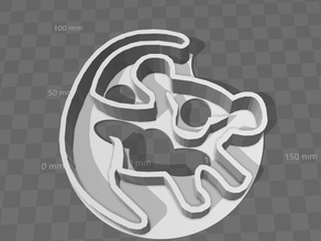Simba cookie cutter ( Lion king )