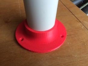 """2"""" PVC pipe table leg mount"""