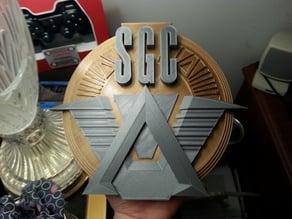 Stargate Command Emblem (Slight Remix for Single Extruder multicolor print)