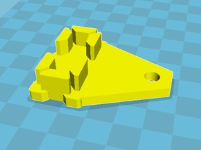 CR-7 Z Axis End Cap with Rod Guide (V-Rail system)