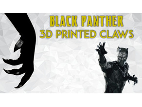 Black Panther 3D Printed Claws