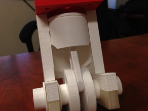 Movable 3D printed engine.