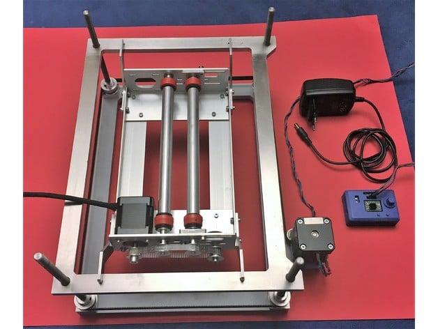 adjustable bed for k40 laser by printcontrol