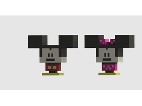 Square Mickey and Minnie Mouse