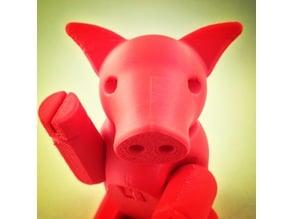 Cochon Articulé - Articulated pig