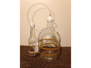 Brewing Blow-off-tube caddy to bottle