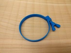 Hose clamp with knob