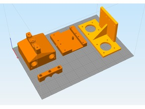 Cyclops(18mm) ready X/Z-axis with shortened bowden for Athorbot