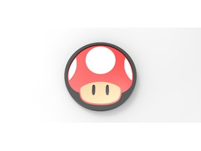 Mario Mushroom Coaster(with LED)