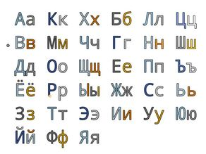 Russian Letters 20 mm for Resizing and Scaling