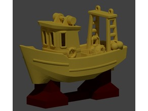 Display stand for FIN (the little trawler)