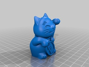 maneki-neko -lucky cat- (solid/filled)