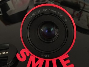 Lens hood Smile for Canon EF - ∅49 mm