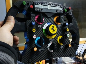 F1 Ferrari Steering Wheel 2016 Version (OSW and Thrustmaster base compatible)