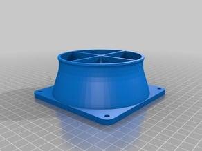 3D Printer Fume Fan / Duct Coupler 120mm fan to 4-inch duct