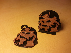 Chewbacca Head Keychain