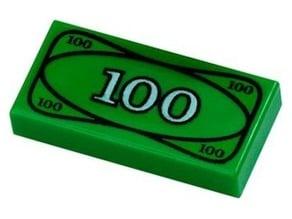 Lego $100 Bill Life Size