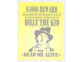 WANTED POSTER STENCILS OF OUTLAWS OF THE WILD WEST AND AUSTRALIA SET OF SIX