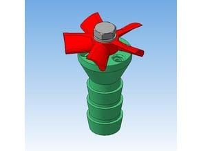 Garden sprinkler with self-drived rotor