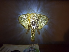 Elephant Voronoi wall art light