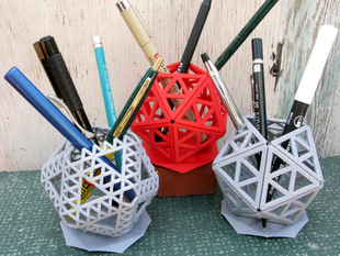 Icosahedral Pencil Holders
