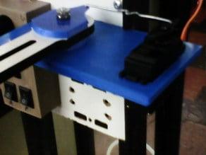 Filawinder servo filament guide leverage multiplier