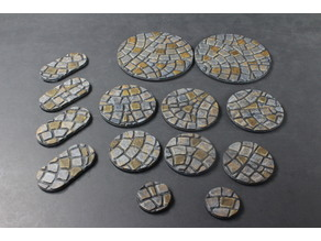 OpenForge Miniature Bases: Cobble (Round)