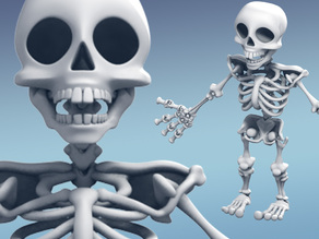 Skeleton (Snaps together and moveable)