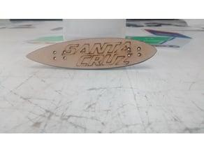 Laser cut Fingerboard Longboard