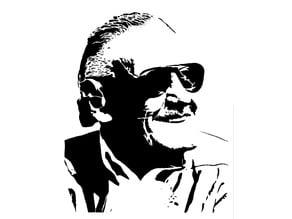 Stan Lee stencil