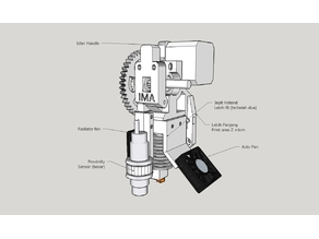 IMA-Prusa i3 Geared Extruder