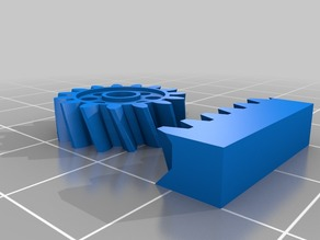My Customized Parametrische Zahnstange mit Ritzel / Parametric Gear Rack and Pinion