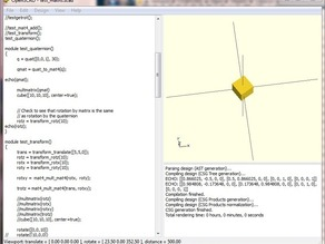 Quaternions for OpenScad