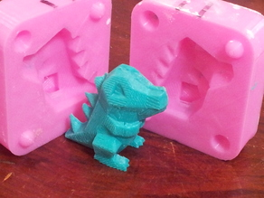 Low Poly Totodile Mold