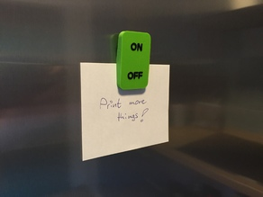 Fridge Magnet On/Off Switch