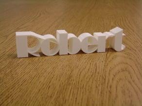 Robert, 3D name