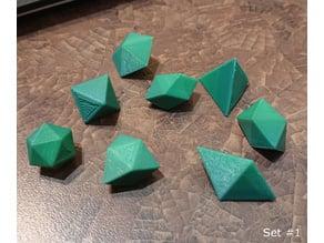 124 Convex Polyhedra of equal volume (Platonic/Archemedian/Johnson solids, Prisms & Antiprisms)