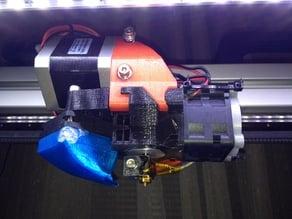 Tygr MOD extruder MK III for original Felixprinters hotends, or custom base for E3D hotends